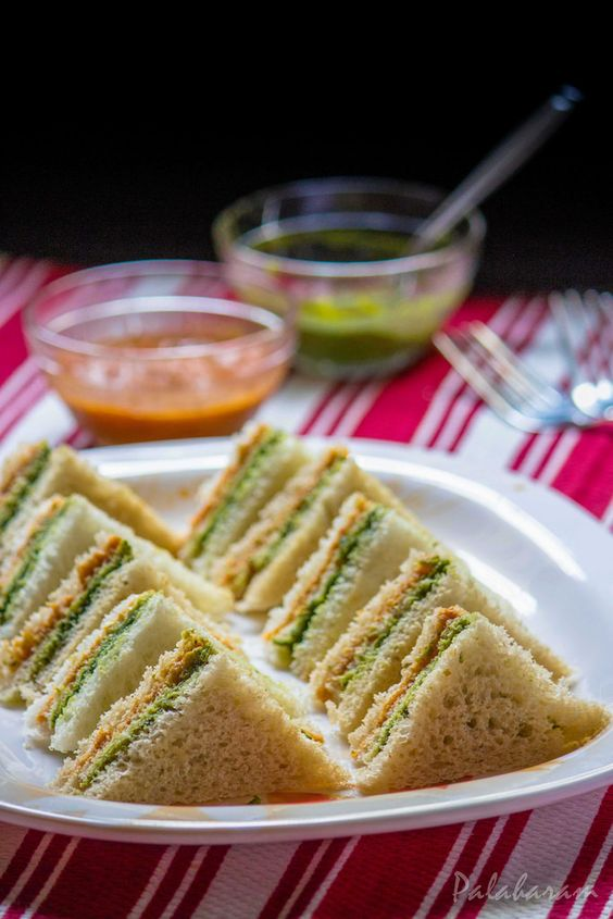 Making tricolor sandwiches