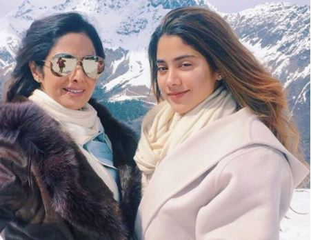 Sridevi with her daughter