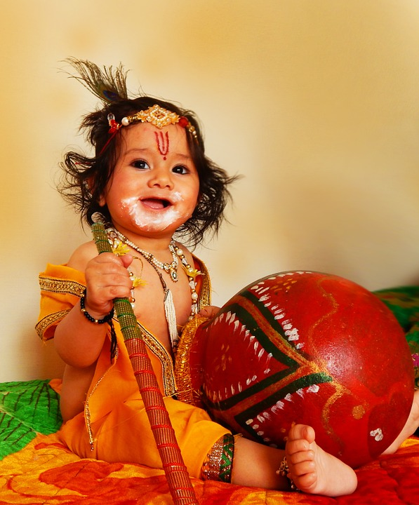 Dress up like Radha-Krishna