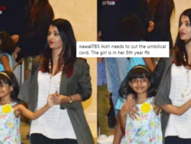 Aishwarya Rai trolled for holding her daughter's hand