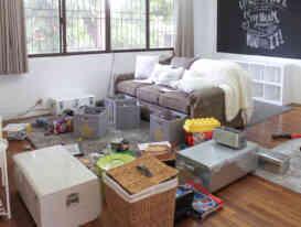 decluttering living space