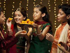 Children during festival